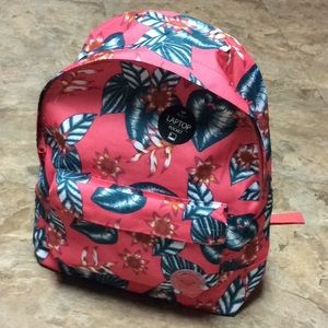 Roxy sugar river tropical coral backpack NWT!